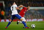 Juan Mata of Manchester United (R) is tackled by Luca Zuffi of Basel during the Champions League Group A match at the Old Trafford Stadium, Manchester. Picture date: September 12th 2017. Picture credit should read: Andrew Yates/Sportimage