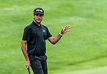 CROMWELL, CT. 20 June 2019-062019 - PGA Tour player Bubba Watson acknowledges the fans after making a tough par putt on the first hole, during the first round of the Travelers Championship at TPC River Highlands in Cromwell on Thursday. Bill Shettle Republican-American