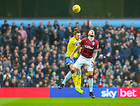 Leeds United's Luke Ayling battles with Aston Villa's Alan Hutton<br /> <br /> Photographer Alex Dodd/CameraSport<br /> <br /> The EFL Sky Bet Championship - Aston Villa v Leeds United - Sunday 23rd December 2018 - Villa Park - Birmingham<br /> <br /> World Copyright &copy; 2018 CameraSport. All rights reserved. 43 Linden Ave. Countesthorpe. Leicester. England. LE8 5PG - Tel: +44 (0) 116 277 4147 - admin@camerasport.com - www.camerasport.com