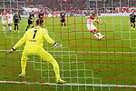 03.11.2019, Merkur Spielarena, Duesseldorf , GER, 1. FBL,  Fortuna Duesseldorf vs. 1. FC Koeln,<br />  <br /> DFL regulations prohibit any use of photographs as image sequences and/or quasi-video<br /> <br /> im Bild / picture shows: <br /> 1:0 fuer Duesseldorf durch Rouven Hennings (Fortuna Duesseldorf #28),   11 Meter <br /> <br /> Foto © nordphoto / Meuter