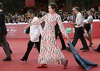 L'attrice statunitense Frances McDormand posa durante un red carpet alla 14^ Festa del Cinema di Roma all'Aufditorium Parco della Musica di Roma, 19 ottobre 2019.<br /> US actress Frances McDormand poses for a red carpet during the 14^ Rome Film Fest at Rome's Auditorium, on 19 october 2019.<br /> UPDATE IMAGES PRESS/Isabella Bonotto