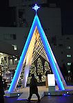 November 21, 2011, Tokyo, Japan - Christmas illuminations - hundreds of thousands of colorful light-emitting diodes - turn Tokyo night into the wonderful world of fantasy at Southern Terrace in the capital's Shinjku area on Monday, November 21, 2011. (Photo byNatsuki Sakai/AFLO) [3615] -mis-