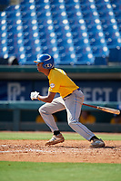 Kendall Diggs (3) of St. Thomas Aquinas High School in Olathe, KS during the Perfect Game National Showcase at Hoover Metropolitan Stadium on June 18, 2020 in Hoover, Alabama. (Mike Janes/Four Seam Images)