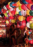 Lantern Stall 02 - Night stalls selling silk lanterns, An Hoi Island, Hoi An Viet Nam