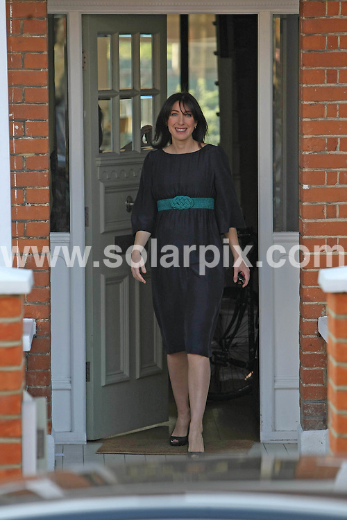 **ALL ROUND EXCLUSIVE PICTURES FROM SOLARPIX.COM**.**WORLDWIDE SYNDICATION RIGHTS**.Samantha Cameron - wife of conservative leader David Cameron - showing her baby bump whilst leaving their London home today to go to the launch of the Conservative party's manifesto at Battersea power station, London, UK. 13 April 2010..This pic: Samantha Cameron..JOB REF:        EBR       DATE:.**MUST CREDIT SOLARPIX.COM OR DOUBLE FEE WILL BE CHARGED**.**MUST NOTIFY SOLARPIX OF ONLINE USAGE**.**CALL US ON: +34 952 811 768 or LOW RATE FROM UK 0844 617 7637**