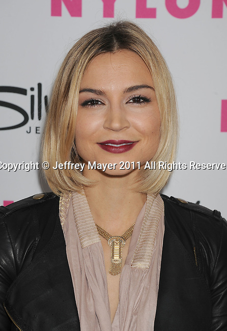 HOLLYWOOD, CA - MARCH 24: Samaire Armstrong  arrives at NYLON Magazine's 12th Anniversary Issue Party With The Cast of Sucker Punch at Tru Hollywood on March 24, 2011 in Hollywood, California.