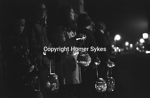 Punky Night, Hinton St George, Somerset, England. 1974 Takes place last Thursday in October. My ref 10/833/1974