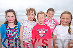 FANCY A DIP?: Erica Moriarty, Ciara O'Hanlon, Robert Monahan, Caoimhe O'Connell, Andrea Travers having fun at the Ballyheigue Water Safety classes last Friday.
