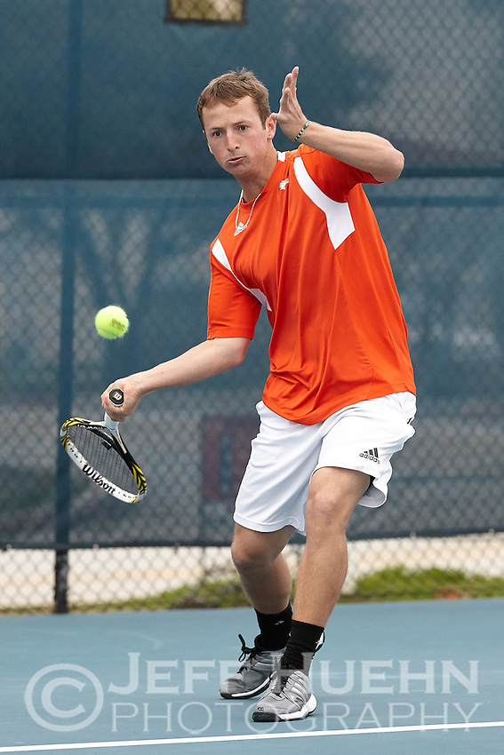 SAN ANTONIO, TX - JANUARY 23, 2015: The Old Dominion University Monarchs defeat the University of Texas at San Antonio Roadrunners 5-2 at the UTSA Tennis Center. (Photo by Jeff Huehn)