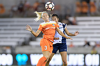 Houston, TX - Saturday July 15, 2017: Rachel Daly and Caprice Dydasco during a regular season National Women's Soccer League (NWSL) match between the Houston Dash and the Washington Spirit at BBVA Compass Stadium.