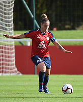 20181027 - CAMPHIN-EN-PEVELE , FRANCE : LOSC's Maud Coutereels pictured during the 8 th competition game between the women teams of Lille OSC and Montpellier Herault Sporting Club in the 2018-2019 season of the first Division - Ligue 1 at Domaine de Luchin , Saturday 27th Octobre 2018 ,  PHOTO Dirk Vuylsteke | Sportpix.Be