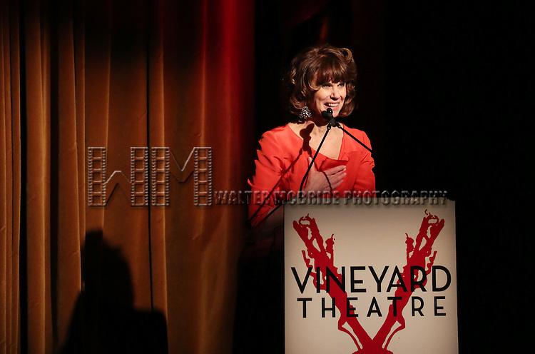 Margo Lion during 2015 Vineyard Theatre Gala presentation honoring Margo Lion at Edison Ballroom on March 30, 2015 in New York City.