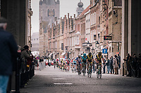 peloton passing through the Menin Gate war memorial in Ieper/Yper<br /> <br /> 81st Gent-Wevelgem in Flanders Fields (1.UWT)<br /> Deinze &gt; Wevelgem (251km)