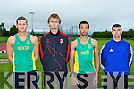 Toma?s Griffin, Conall O'Callaghan, Jason Lynch and Ross Conin who competed in the Senior County athletics championships in Castleisland on Friday evening