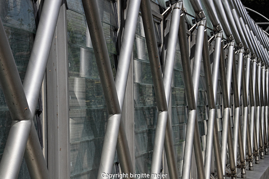 up close photography of the steel bars outside the orangerie at the royal gardens in prague, europw