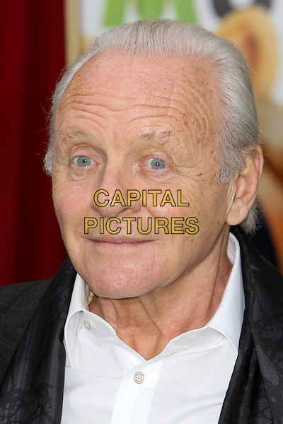 """SIR ANTHONY HOPKINS.World Premiere of Disney's """"The Muppets,"""" at the El Capitan Theatre. Hollywood, CA USA. .headshot portrait black white  .November 12th, 2011.CAP/CEL ©CelPh/Capital Pictures."""