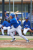 Toronto Blue Jays Norberto Obeso (60) during an instructional league game against the Philadelphia Phillies on September 28, 2015 at the Englebert Complex in Dunedin, Florida.  (Mike Janes/Four Seam Images)