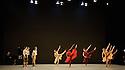 "London, UK. 29.03.2016. Richard Alston Dance Company presents ""An Italian In Madrid"" at Sadler's Wells. horeographed by Richard Alston, lighting design by Karl Oskar Sordal, costume design by Fotini Dimou. Dancers are: Ihsaan de Banya, Liam Riddick, Nicholas Bodych, James Muller, Ryan Ledger, Jennifer Hayes, Nancy Nerantzi, Elly Braund, Oihana Vesga Bujan, Sharia Johnson, Vidya Patel.  Photograph © Jane Hobson."