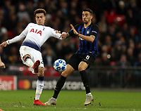 Dele Alli of Tottenham Hotspur and Matias Vecino of Internazionale during Tottenham Hotspur vs Inter Milan, UEFA Champions League Football at Wembley Stadium on 28th November 2018