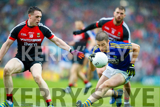 Stephen O'Brien Kerry in action against /m18/ Mayo in the All Ireland Semi Final in Croke Park on Sunday.