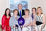 Myra Spillane Blennerville, Betty Hand Dingle, Johnand Della Healy Killorglin, Cathy Carlton Ballincollig and Marian Barrett Cork at the Cystic Fibrosis Ireland Conference in the Brehon Hotel on Saturday