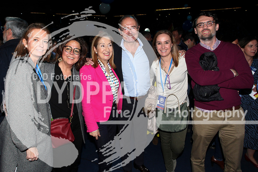 The closing of the campaign of the PP (Partido Popular) party, on Sunday the 28th are the general elections, at WiZink Center in Madrid on April 26, 2019.<br /> Ana Pastor and Pio Garcia Escudero