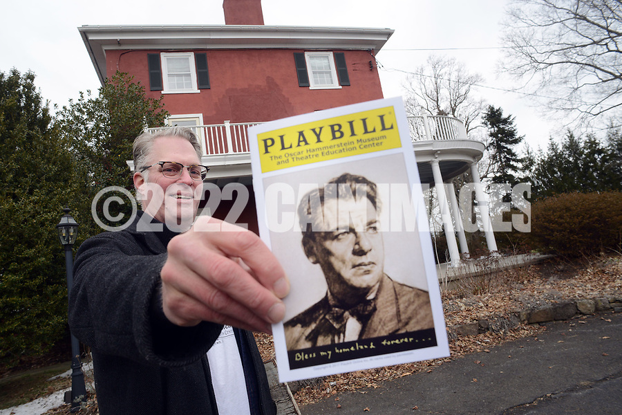 Will Hammerstein holds a Playbill as he discusses the project awhile walking around the property Friday March 24, 2017 at Highland Farm in Doylestown, Pennsylvania. Hammerstein is in the process of raising money to restore the old brand create a Hammerstein museum dedicated to his grandfather, Oscar Hammerstein, writer of the broadway musicals, Sound of Music, King and I, Oklahoma and Carousel to name a few. (WILLIAM THOMAS CAIN / For The Philadelphia Inquirer)