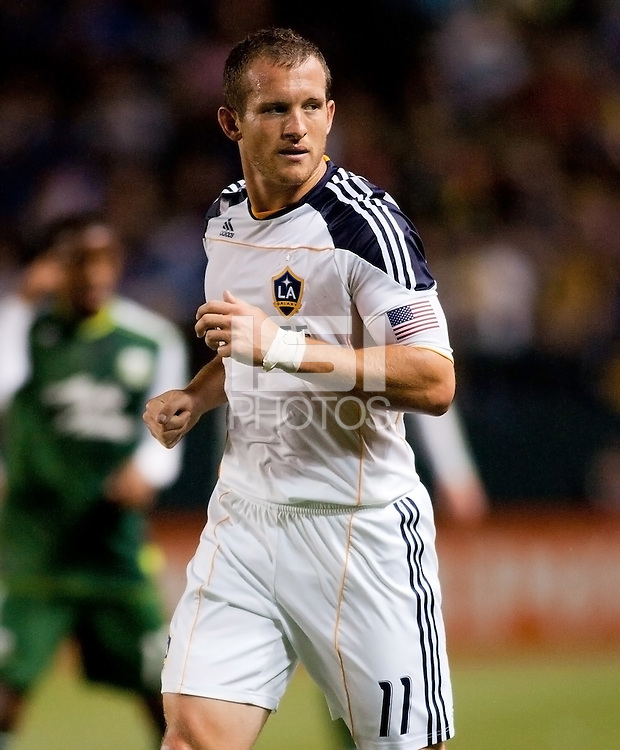 Chad Barrett (11) forward for the LA Galaxy after scoring his second goal for his LA Galaxy this season. The LA Galaxy defeated the Portland Timbers 3-0 at Home Depot Center stadium in Carson, California on  April  23, 2011....