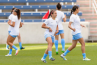 Bridgeview, IL, USA - Sunday, May 29, 2016: Chicago Red Stars midfielder Danielle Colaprico (24) before a regular season National Women's Soccer League match between the Chicago Red Stars and Sky Blue FC at Toyota Park. The game ended in a 1-1 tie.