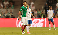 Mexico City, Mexico - Sunday June 11, 2017: Hector Moreno, Paul Arriola during a 2018 FIFA World Cup Qualifying Final Round match with both men's national teams of the United States (USA) and Mexico (MEX) playing to a 1-1 draw at Azteca Stadium.