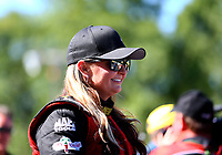 May 7, 2017; Commerce, GA, USA; NHRA pro stock driver Erica Enders-Stevens during the Southern Nationals at Atlanta Dragway. Mandatory Credit: Mark J. Rebilas-USA TODAY Sports