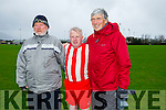 l-r  Christy Leahy  Tim Counihan and Christy Neugent at the Joe Flynn Tralee Dynamos Legend Game in aid of  Kerry/Cork Link Bus on Sunday at Cahermoneen
