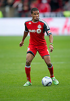 22 October 2011: Toronto FC forward Ryan Johnson #9 in action during a game between the New England Revolution and Toronto FC at BMO Field in Toronto..The game ended in a 2-2 draw.