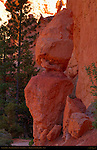 Sentinel Rock, Wall Street Entrance, Navajo Trail, Bryce Canyon National Park, Utah
