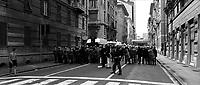 Genova 20 Luglio 2001.G8. I Carabinieri prima della carica al corteo dei disobbedienti
