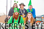 Enjoying the St Patrick's day parade Castlemaine  on Tuesday were the Keel angling club. Front l-r John Ahern and Abbie Flynn.Back l-r JJ Flynn, Sinead and Cyril O'Brien