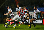 Cameron Carter-Vickers of Sheffield Utd first shot is blocked before scoring during the Championship match at the Macron Stadium, Bolton. Picture date 12th September 2017. Picture credit should read: Simon Bellis/Sportimage