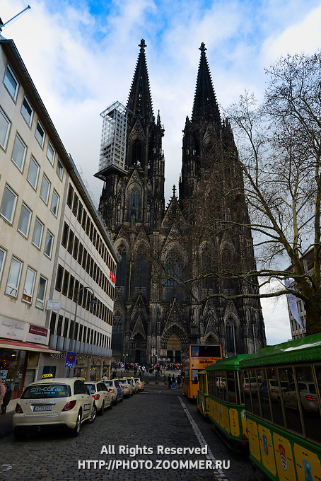 Cologne Cathedral Facade in Germany, Koelner Dom