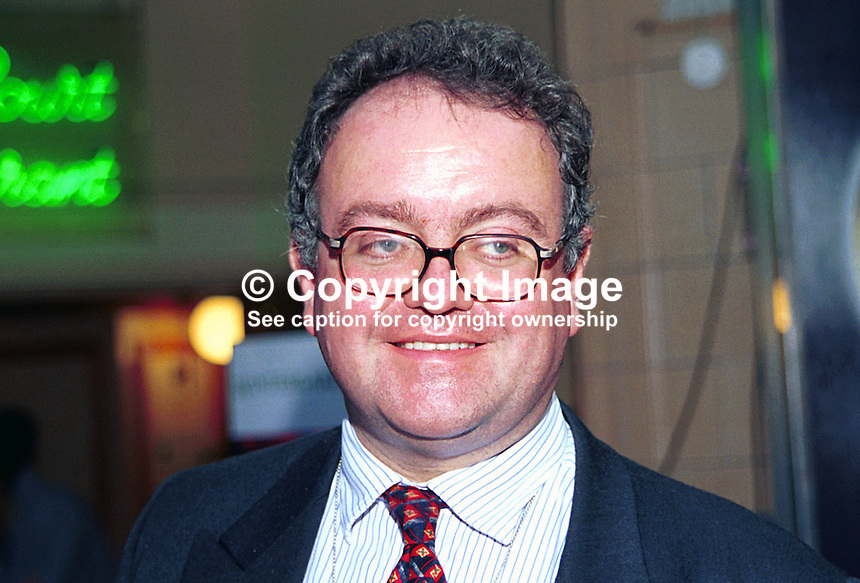 Joe Egerton, Remploy Limited, Britain, UK, Conservative Party, Annual Conference, Blackpool,199910222..Copyright Image from Victor Patterson, 54 Dorchester Park, Belfast, UK, BT9 6RJ..Tel: +44 28 9066 1296.Mob: +44 7802 353836.Voicemail +44 20 8816 7153.Skype: victorpattersonbelfast.Email: victorpatterson@mac.com.Email: victorpatterson@ireland.com (back-up)..IMPORTANT: If you wish to use this image or any other of my images please go to www.victorpatterson.com and click on the Terms & Conditions. Then contact me by email or phone with the reference number(s) of the image(s) concerned.