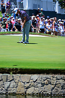 Billy Horschel (USA) watches his putt on 9 during round 2 of the Dean &amp; Deluca Invitational, at The Colonial, Ft. Worth, Texas, USA. 5/26/2017.<br /> Picture: Golffile | Ken Murray<br /> <br /> <br /> All photo usage must carry mandatory copyright credit (&copy; Golffile | Ken Murray)