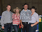 Brendan and Karen Lynch and Seamus and Olivia Walsh pictured at the barn dance in aid of Ballapousta National School at Oberstown Farm. Photo:Colin Bell/pressphotos.ie