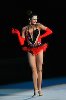 "Anna Bessonva of Ukraine performs during gala exhibition at 2007 World Cup Kiev, ""Deriugina Cup"" in Kiev, Ukraine on March 16, 2007."