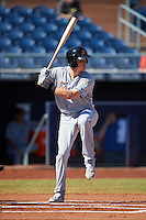 Mesa Solar Sox Brian Anderson (14), of the Miami Marlins organization, during a game against the Peoria Javelinas on October 19, 2016 at Peoria Stadium in Peoria, Arizona.  Peoria defeated Mesa 2-1.  (Mike Janes/Four Seam Images)