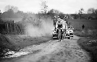 Stijn Devolder (BEL/Trek-Segafredo) & teammates during recon of the 114th Paris - Roubaix 2016