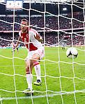Nederland, AMsterdam, 1 April 2012.Eredivisie.Seizoen 2011-2012.Ajax-Heracles.Theo Janssen van Ajax scoort de 1-0