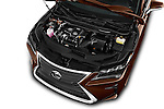 Car Stock 2016 Lexus RX Executive 5 Door SUV Engine  high angle detail view