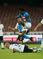 Amadou Diawara  during the  italian serie a soccer match,between SSC Napoli and Atalanta      at  the San  Paolo   stadium in Naples  Italy , August 27, 2017