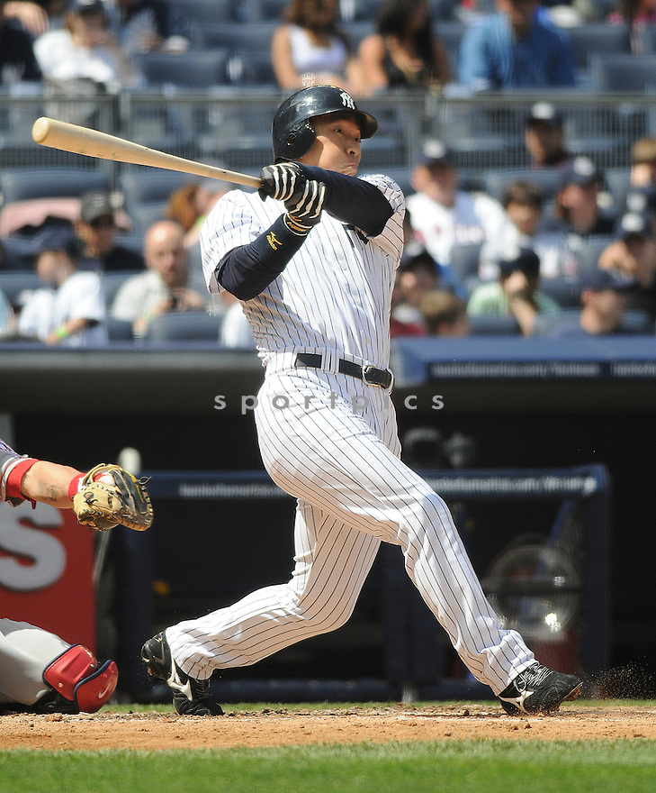 HIDEKI MATSUI, of the New York Yankees  in action during the Yankees  game against the Los Angeles Angels on May 2, 2009 in New York, New York  The Angels  beat the Yankees 8-4...