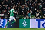 08.03.2019, Weserstadion, Bremen, GER, 1.FBL, Werder Bremen vs FC Schalke 04<br /> <br /> DFL REGULATIONS PROHIBIT ANY USE OF PHOTOGRAPHS AS IMAGE SEQUENCES AND/OR QUASI-VIDEO.<br /> <br /> im Bild / picture shows<br /> Jubel 4:2, Martin Harnik (Werder Bremen #09) bejubelt seinen Treffer zum 4:2 vor Fans der Ostkurve, <br /> <br /> Foto &copy; nordphoto / Ewert