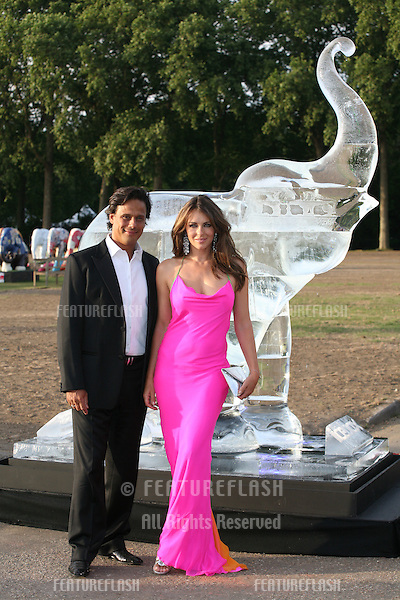Elizabeth Hurley and Arun Nayer attending The Elephant Parade auction in aid of The Elephant Family at Royal Hospital Chelsea. 30/06/2010  Picture by: Alexandra Glen / Featureflash